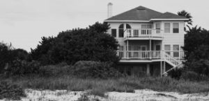 large house on a beach